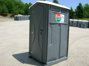 single porta potty