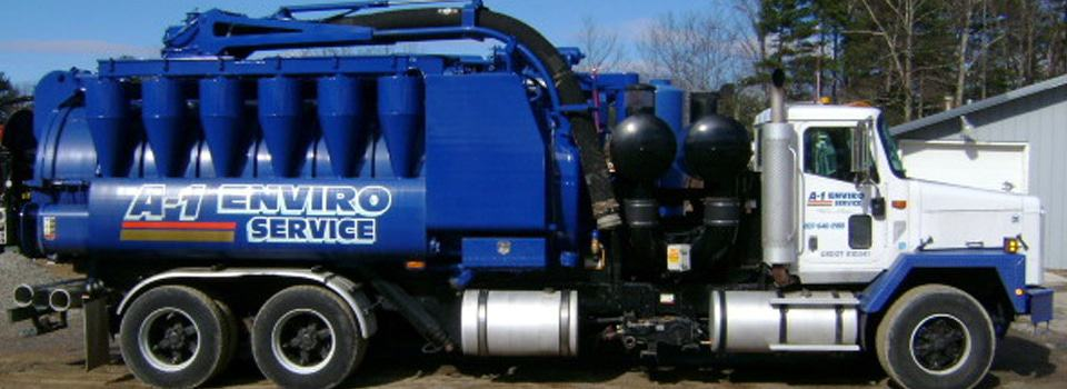 A-1 Environmental Services septic pumping truck
