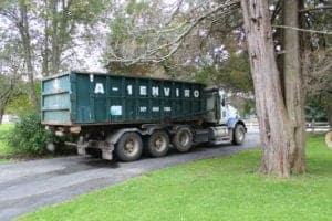 A-1 Environmental Services dumpster truck